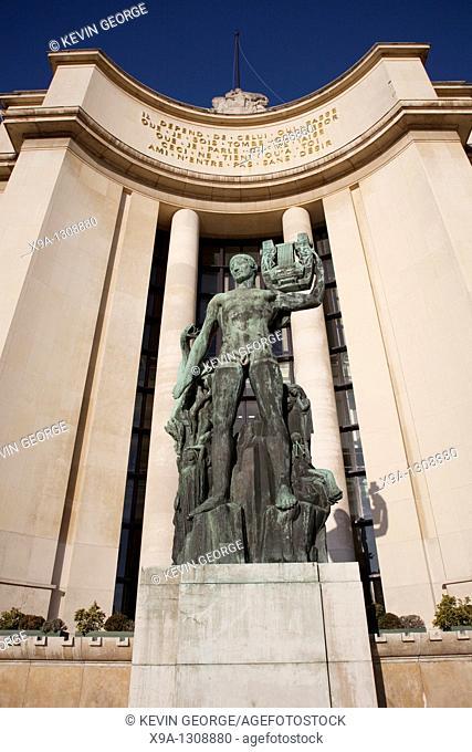 Palais de Chailot in Trocadero, Paris, France