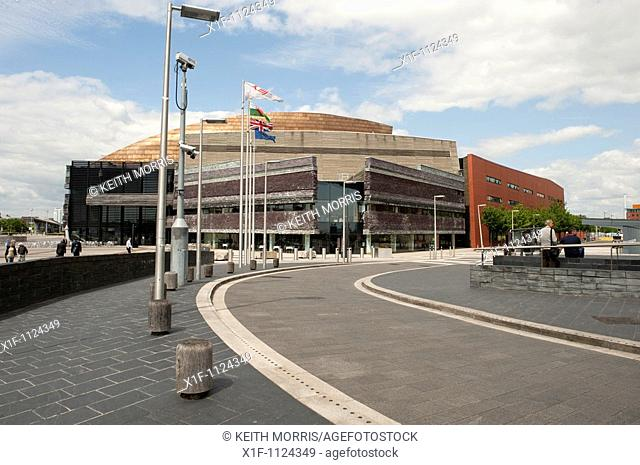 The Wales Millennium Centre, Cardiff Bay, Wales UK