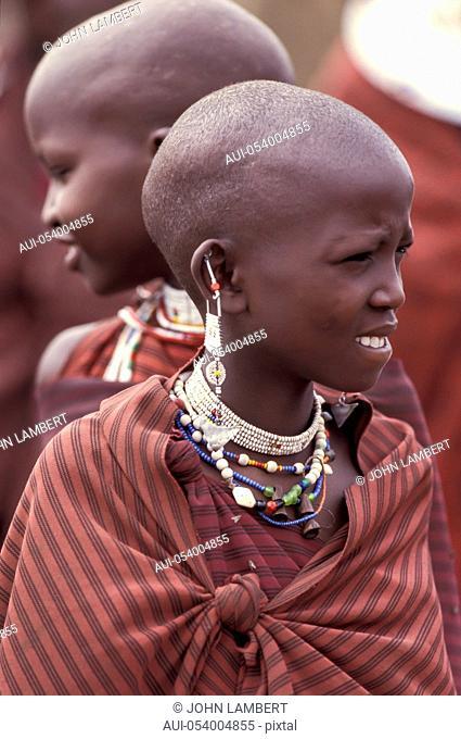 africa, tanzania, masai young girls