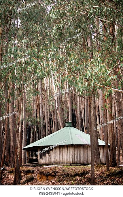 Shelter for skiers and bushwalkers at Mt Sterling National Park. Victoria, Australia