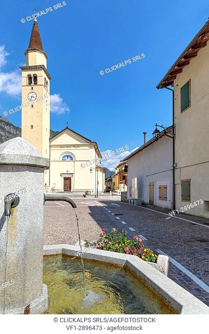 Parish Church of Santa Maria Maggiore, Cimolais, Valcellina, province of Pordenone, Friuli Venezia Giulia, Italy, Europe