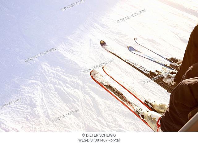 Austria, Salzburg State, chair lift, skier