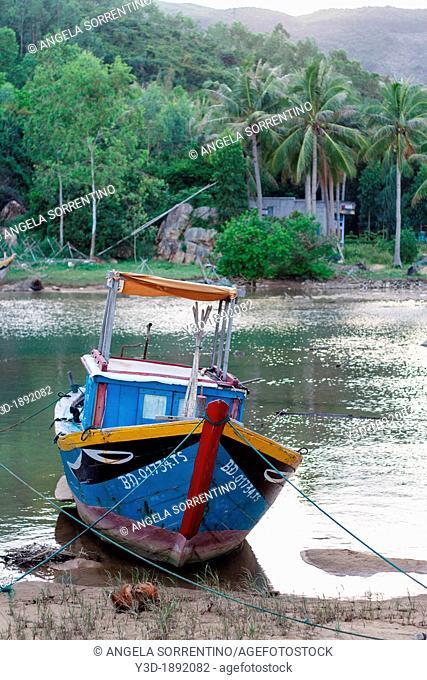 Typical fishing boat in Quy Nhon, Vietnam