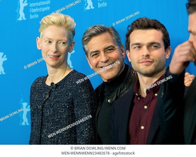 The 66th Annual International Berlin Film Festival (Berlinale) - Hail, Caesar! - Photocall at Grand Hyatt Hotel Featuring: Tilda Swinton, George Clooney