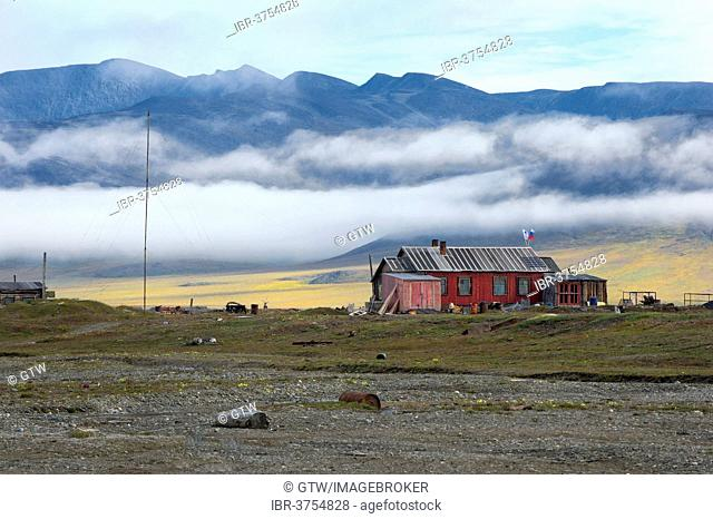 Red house, Doubtful Village, Doubtful Village, Wrangel Island, Far Eastern Federal District, Russia