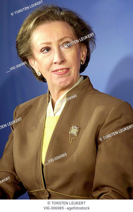 Margaret BECKETT, Minister for Foreign Affairs of Great Britain. - Berlin, BERLIN, GERMANY, 24/10/2006