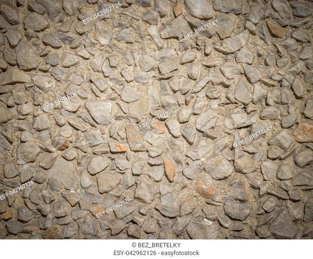 Beige brown gravel texture background, design element