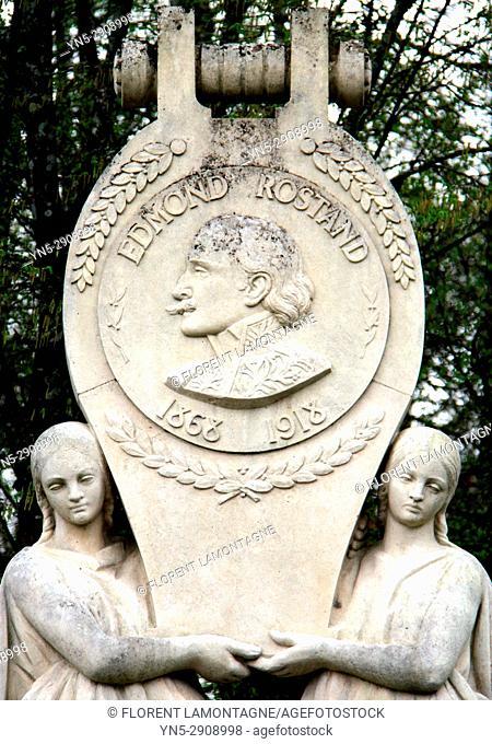 Stèle Edmond Rostand, ecrivain, 64, Cambo les Bains, Nouvelle Aquitaine, stele