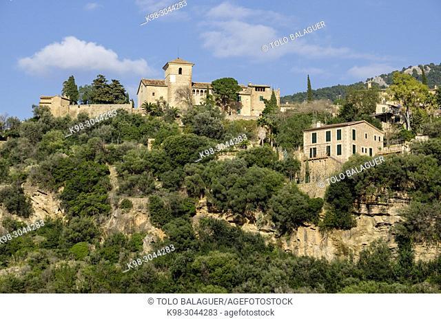 iglesia de San Juan Bautista, siglo XV, Deià, comarca de la Sierra de Tramontana, Mallorca, balearic islands, Spain