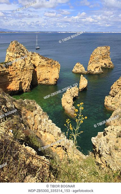 Portugal, Algarve, Lagos, Ponta da Piedade, cliffs, scenery
