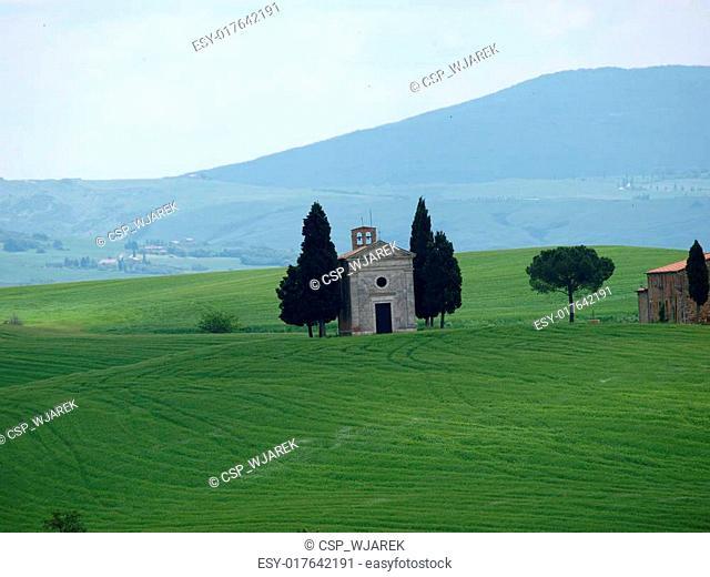 Church of Capella de Vitaleta, near Pienza, Tuscany, Italy, Europe