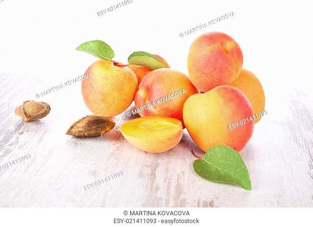 Delicious fresh apricots