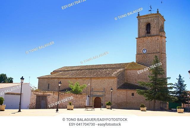 Minaya church in Camino de Santiago way of Saint James Levante in Castile La Mancha