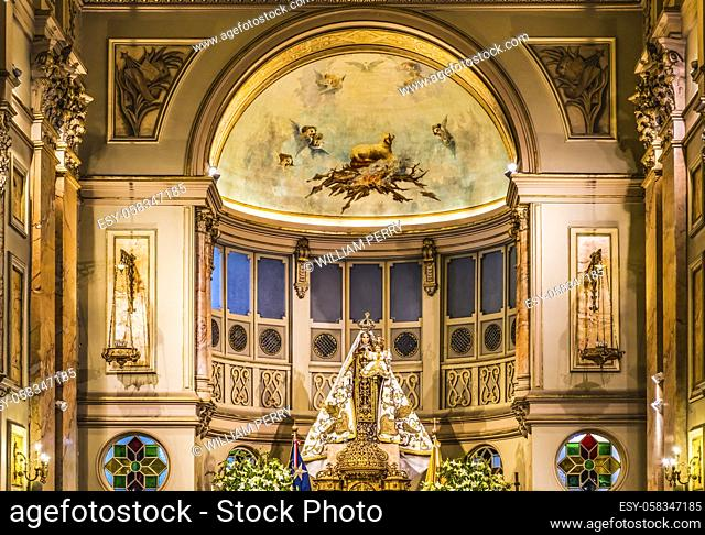 Mary Shrine Metropolitan Cathedral Basilica Altar Arches Santiago Chile Church completed 1799