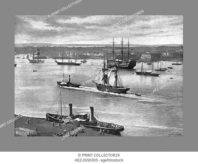 Portsmouth Harbour, c1900. Artist: Alfred John West