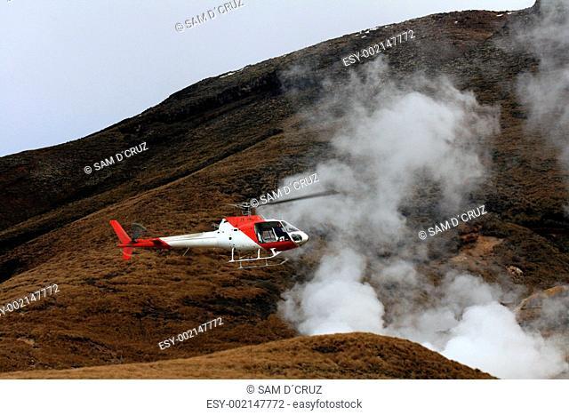Helicopter - Tongariro National Park, New Zealand