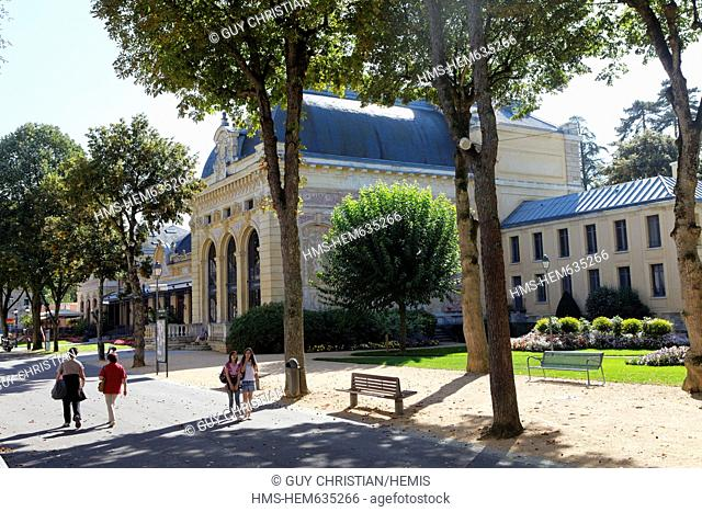 France, Allier, Neris les Bains, spa, thermal city, opera