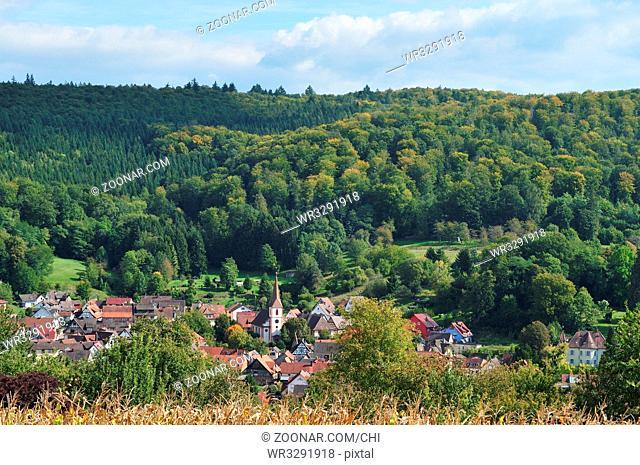 Teningen-Heimbach kleiner badischer Ort am Rande des Schwarzwaldes. Teningen Heimbach a small village in the Black Forest, Germany, Europe