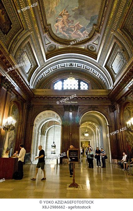 Interior New York Public Library, Manhattan (New York, United States of America)
