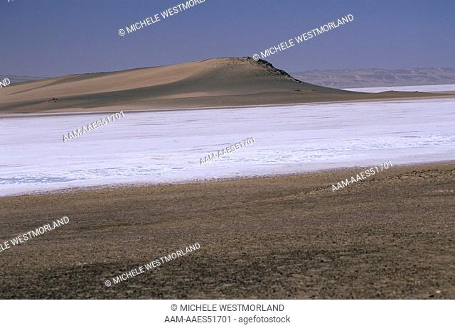 Salt Pan, only happens about once every 10 years, Skeleton Coast, Namibia