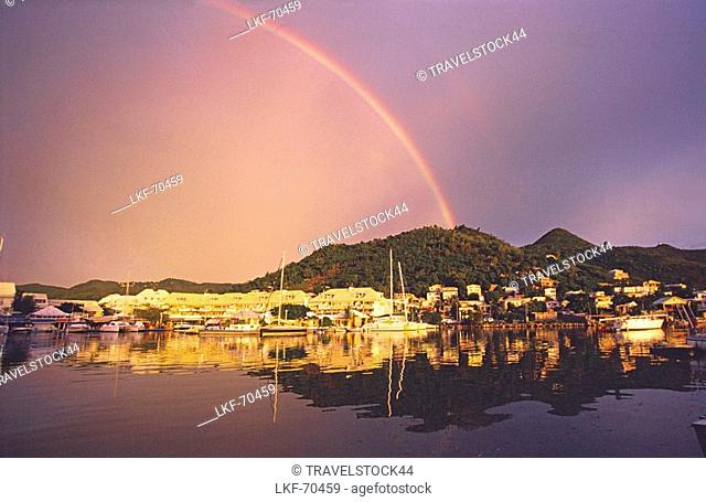 Carribean St, Martin, French West Indies, Marigot, rainbow