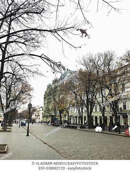 Odessa, Ukraine: Ulitsa Deribasovskaya is a pedestrian walkway in the heart of Odessa, Ukraine