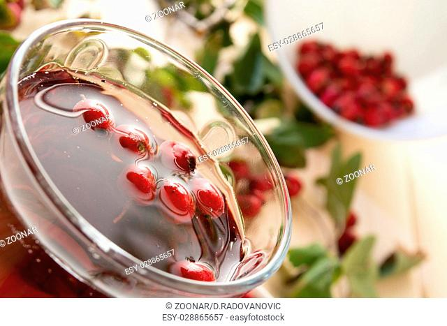 Drink from dried hawthorn berries