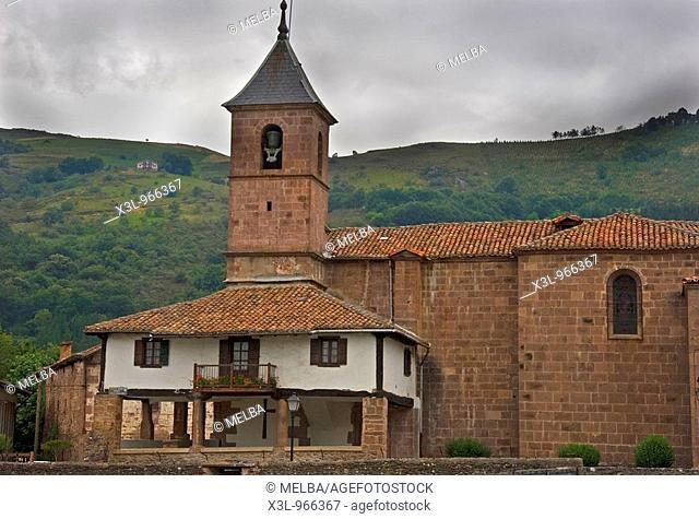 Elbetea church  Baztan valley  Navarre  Spain