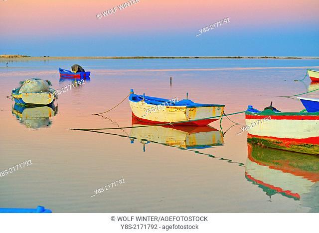 Fisherboat(s) at the Blue Lagoon, Djerba, Tunisia