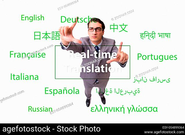 The concept of real time translation from foreign language