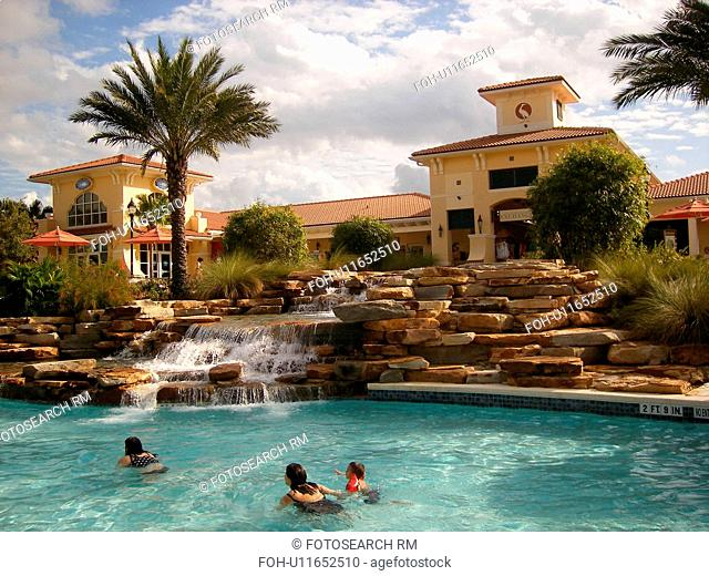 swimming pool, club house, timeshare, Orange Lake Resort and Country Club, Orlando, Florida, FL, FLA, Kissimmee