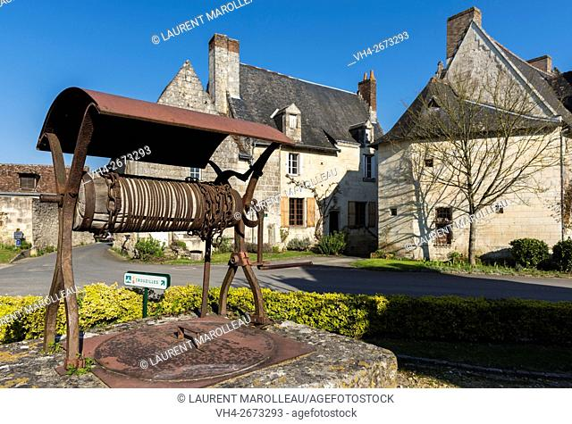 Notable Houses at Crissay-sur-Manse, Labeled The Most Beautiful Villages of France. Indre-et-Loire, Centre region, Loire valley, France, Europe