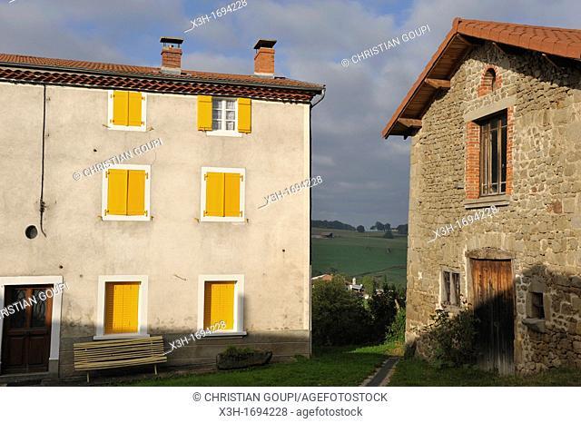 Le Bourg, Tours sur Meymont, Livradois-Forez Regional Nature Park, Puy-de Dome department, Auvergne region, France, Europe