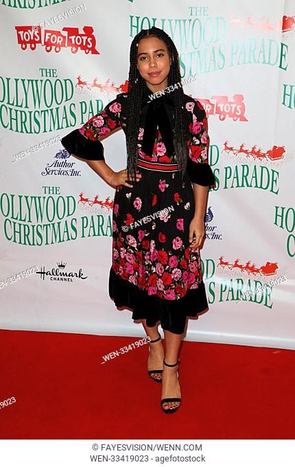 86th Annual Hollywood Christmas Parade in Los Angeles, California. Featuring: Asia Monet Where: Los Angeles, California, United States When: 26 Nov 2017 Credit:...