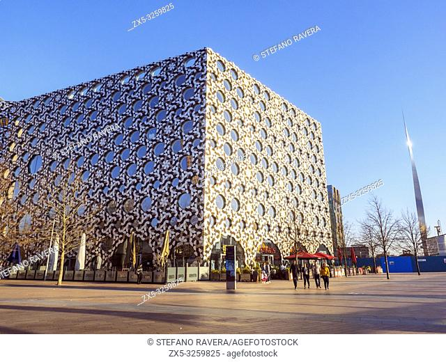Ravensbourne University London in the Greenwich Peninsula - South East London, England