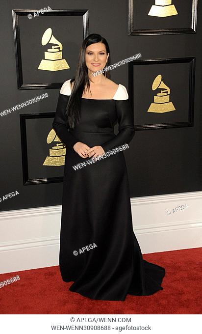 The 59th Annual Grammy Awards arrivals Featuring: Laura Pausini Where: Los Angeles, California, United States When: 13 Feb 2017 Credit: Apega/WENN.com