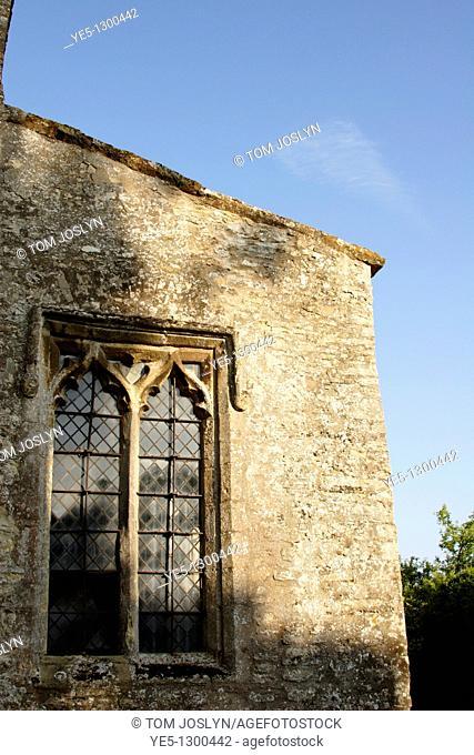 Church Window, Stoke Goldington, Buckinghamshire, England, UK