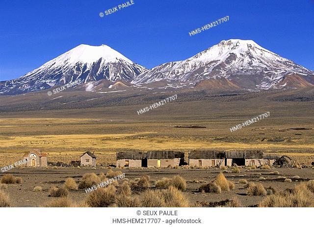 Bolivia, Oruro Department, Sajama Province, Sajama National Park, Nevados de Payachata complex of volcanoes