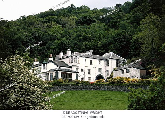 House of the English writer, painter and poet John Ruskin (1819-1900), Brantwood, Lake District, England, United Kingdom
