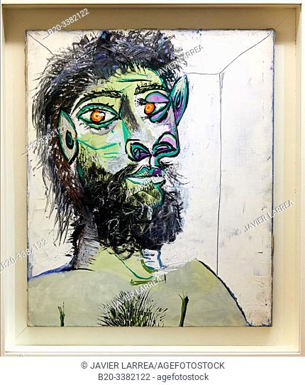 """""""Tête d'homme barbu"""", 1938, Pablo Picasso, Picasso Museum, Paris, France, Europe"""