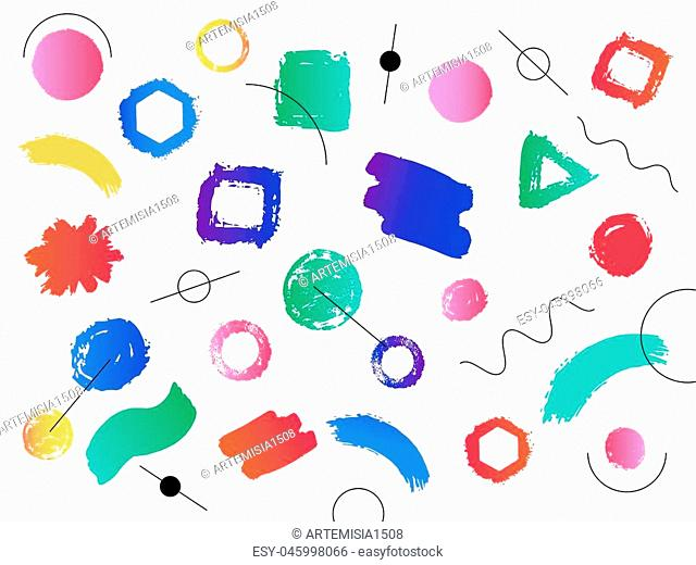 Hipster modern and colorful geometric background with gradient shape. Vector illustration