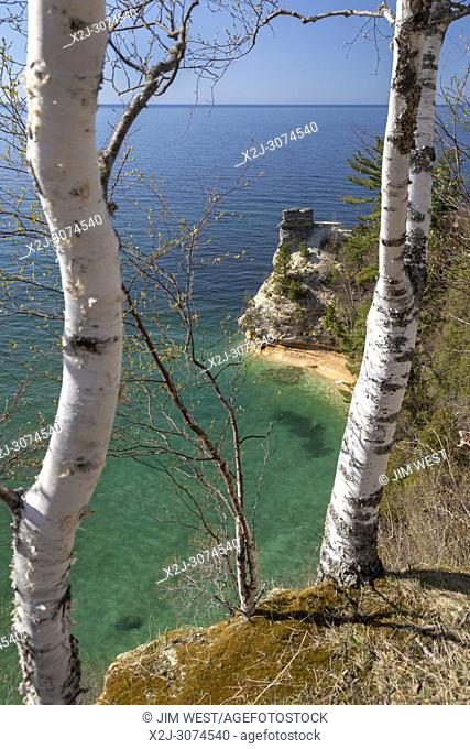 Munising, Michigan - Miners Castle on Lake Superior at Pictured Rocks National Lakeshore