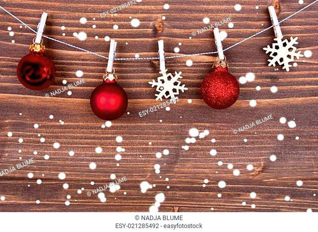 Snowflakes and Christmas Balls on Line II