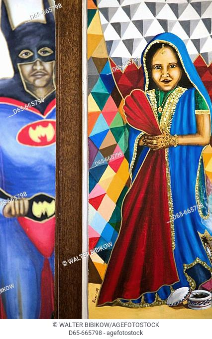 BAHRAIN-Al Jasra: Al Jasra Handicraft Centre- Batman meets a traditional Girl / Art