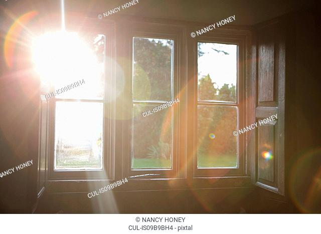 Sunlight shining through window
