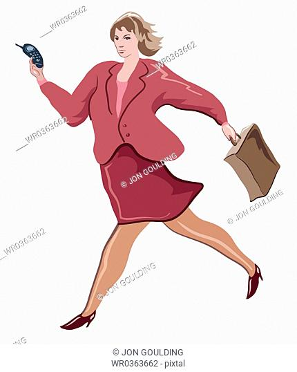 In A Hurry Businesswoman