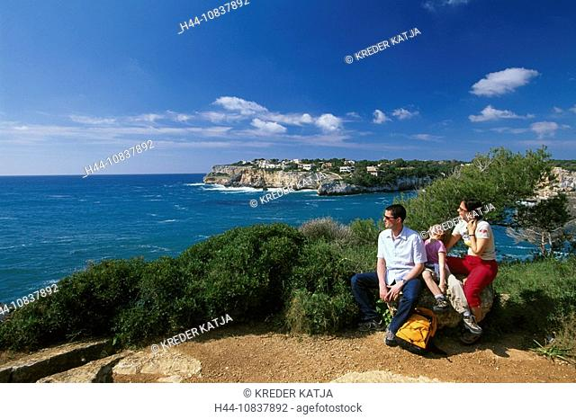 Es Pontas, Majorca, Balearic islands, Spain, Europe, Cala Santanyi, Es Pontas, Europe, family island, coast, sea, Medi