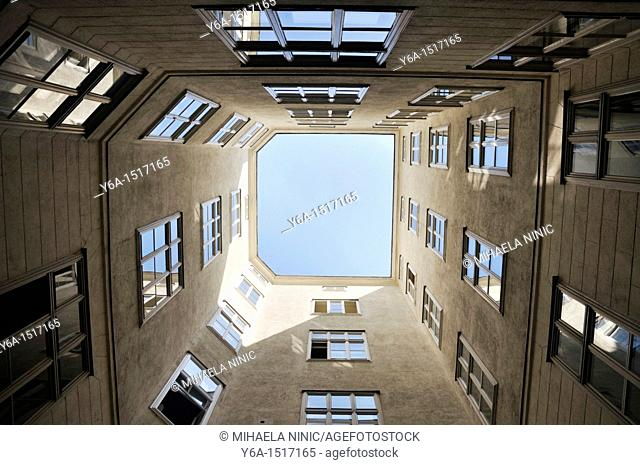 Low angle view of a building in Vienna, Austria, Europe