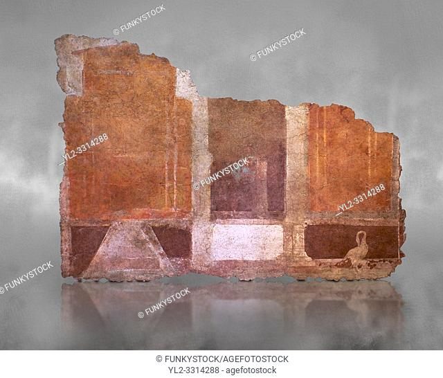 Roman fresco wall decorations of Room E9, Rome. Museo Nazionale Romano, 130-140AD( National Roman Museum), Rome, Italy