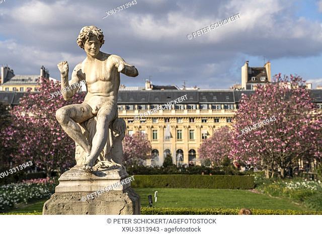 Im Park Jardin du Palais Royal, Paris, Frankreich | Park Jardin du Palais Royal, Paris, France